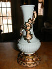 Gorgeous Antique Victorian Porcelain Rose Bud Vase  With Heavy 24k gold