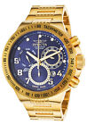 New Mens Invicta 15444 S1 Rally Swiss Chrono Blue Textured Dial Steel Watch