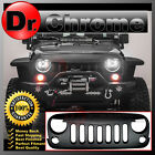 07 16 Jeep JK Wrangler Front Hood Matte Black Replacement Grille Shell All Model