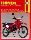 HAYNES Repair Manual - Honda XL/XR with 80cc thru 200cc engines (78-87)
