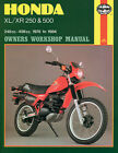 HAYNES Repair Manual - Honda XL/XR 250cc - 500cc engines (1978-1983)