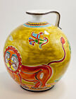NEW DE SIMONE VASE - 30 CM - CERAMIC HAND PAINTED - MADE IN ITALY