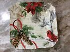 222 Fifth Holiday Wishes Salad Plates. Set Of 4. Porcelain. Beautiful. New.