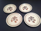 Vtg Set 4 Homer Laughlin Brown Wild Strawberry Bread Plates Stoneware Speckle