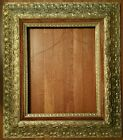 SUPERB ANTIQUE GOLD GILDED GESSO ON WOOD W/ VELVET PICTURE FRAME FOR 16