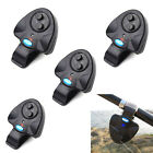 4PCS Electronic Fish Bite Sound Alarm LED Indicator Bell Alert Clip On Rod Black