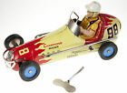TIN TOY CHAMPION RACER WIND UP COLLECTIBLE CAR LARGE GOOD QUALITY 21cm 8
