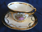GLORIA HANDWORK BAYREUTH GERMANY DEMITASSE TEA CUP AND SAUCER COURTING COUPLE