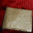 Vintage Evans Chain Mail Gold Tone Metal Mesh Wallet Bi-fold Coin Purse
