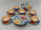 Beautiful Vintage Tea Set Ceramic Porcelain Hand Decorated Flowers Luster Japan