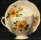 Queen Anne England Vintage Tea Cup and Saucer Yellow Climbing Roses Teacup