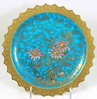 RARE ART PLATE #1 C1882 DOULTON BURSLEM C2159 HAND PAINTED RAISED GOLD FLORAL