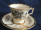 LIMOGES AVANCE GOLD AND WHITE TRIM DECORATIONS WITH CITY SCENE ON CUP CIRCA 1924