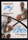 ANDREW WIGGINS ANTHONY BENNETT 2014 15 IMMACULATE COLLECTION RC DUAL AUTO SP 49