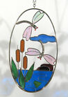 Stain Glass Dragonfly Dragonflies on a Wire Oval Ring