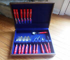 GIBSON COCA-COLA COKE STAINLESS STEEL RED HANDLE FLATWARE 17 PIECES
