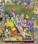 Susan Bourdet Artwork Spring Charm birds flowers 500pc Puzzle Bag 2009 Karmin