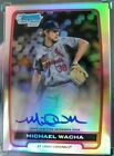 2012 Bowman Chrome Refractor AUTO Michael Wacha Rookie Cardinals RC