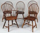 Assembled set of (5) American Windsor chairs Lot 285