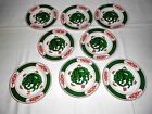 8 Vintage Fitz and Floyd Green Dragon Crest 6 1/2