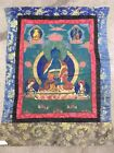 Vintage Hand Painted Asian Thanka