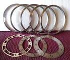 VINTAGE LOT OF FIVE (5)  MANTEL CLOCK BEZELS WITH GLASS - PARTS