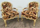 Vintage Hollywood Regency style Shell Carved Flower Chairs