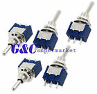 2PCS Mini 6A 125V AC SPDT MTS-102 3Pin 2 Position On-on Toggle Switch Practic