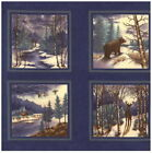 WINTER FOREST FLANNEL - BLUE Moda FABRIC PANEL by Holly Taylor - 24
