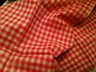 Vintage Red Gingham Fabric Panel Embroidery 40s 50s Crafters Sewing