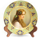 Royal Vienna Porcelain Portrait Cabinet Plate Signed title 'Hopfen' Hand Painted
