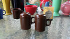 RANGETOP SALT PEPPER SHAKERS Chocolate RANGE TOP FIESTA 1st