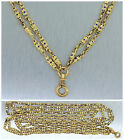 Elegant Ladies Antique 14K Yellow Gold Enamel Fob Pocket Watch Chain Necklace
