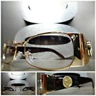 Mens CLASSIC VINTAGE RETRO Style Clear Lens EYE GLASSES Gold Brown Fashion Frame