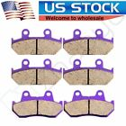 Front+Rear Carbon fiber Brake Pads for HONDA GL 1500 SE/A/I Goldwing 1990-2000