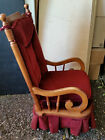Gorgeous Tell City Vintage Padded Wood ROCKING CHAIR