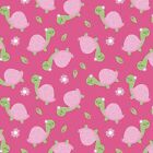 Fabric Baby Turtles on Pink Flannel 1 4 Yard