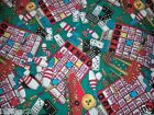 BINGO FABRIC COTTON QUILTING FABRIC BINGO CARD bowling games FREE SHIP BTY