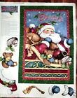 Christmas fabric panel I BELIEVE IN SANTA Fabric by SPRINGS BTP FREE SHIP  NEW
