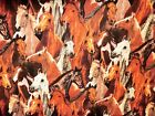RIVERS BEND horse fabric SPRINGS COTTON FABRIC allover horse heads NEW FREE SHIP