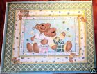 BEARS BABY Quilt Top NURSERY Fabric BUTTERFLY BEARS FREE SHIPPING NEW