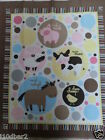 Animal Talk fabric panel Quilt Top BABY Fabric pig Horse Cow NEW FREE SHIPPING