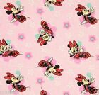 Minnie Mouse fabric Daisy PINK Flowers Floral Badges DISNEY FREE SHIPPING NEW