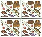 Frances Meyer FISHING Scrapbook 4 Sheets Stickers FISH Trout Lures