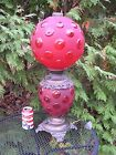 Antique vintage SUCCESS Red PARLOR table LAMP electric large globe 245 nice