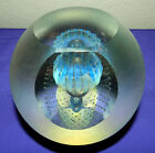 INCREDIBLE HUGE EICKHOLT SIGNED IRIDESCENT OPALESCENT JELLYFISH PAPERWEIGHT 6LBS