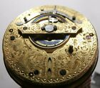 Antique Verge Fusee Pocket Watch - Nice High Dome Crystal, Case, Fancy Movement