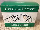 Fitz & Floyd GAME NIGHT Snack Plates - NIB - Clubs/Spades