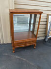 49828   Solid Wood China Cabinet Curio with drawer  QUALITY