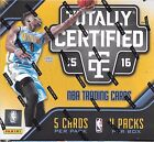2015 16 PANINI TOTALLY CERTIFIED BASKETBALL HOBBY BOX SEALED